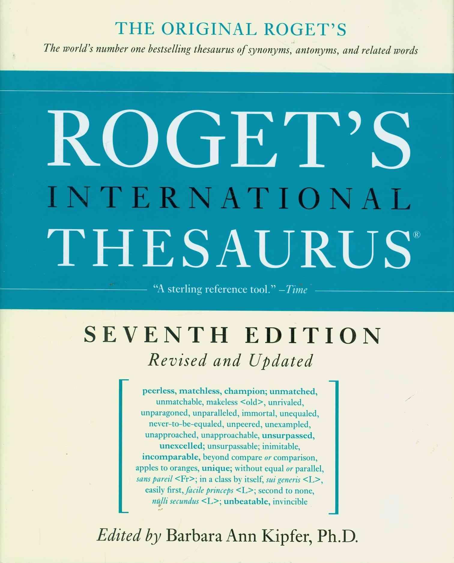 Roget's International Thesaurus By Kipfer, Barbara Ann (EDT)